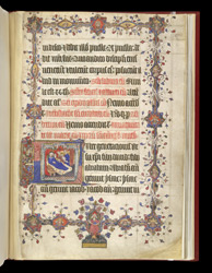 The Nativity Of The Virgin, And A Tree Of Jesse Border, In 'The Lovell Lectionary'